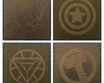 Marvel Avengers Inspired Slate Coasters