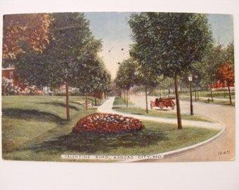 Kansas City Mo Missouri Valentine Road Antique Postcard