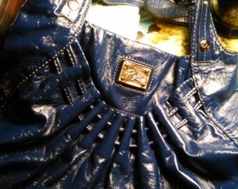 Vintage Blue Relic Handbag, Vintage Handbag, Blue Relic Purse, Vintage Blue Handbag, Blue Purse