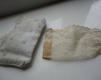 doll pillow and piece of lace