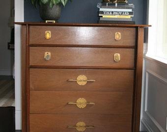 Vintage Mid Century /Hollywood Regency Kent Coffey Asian Dresser -James Mont Style