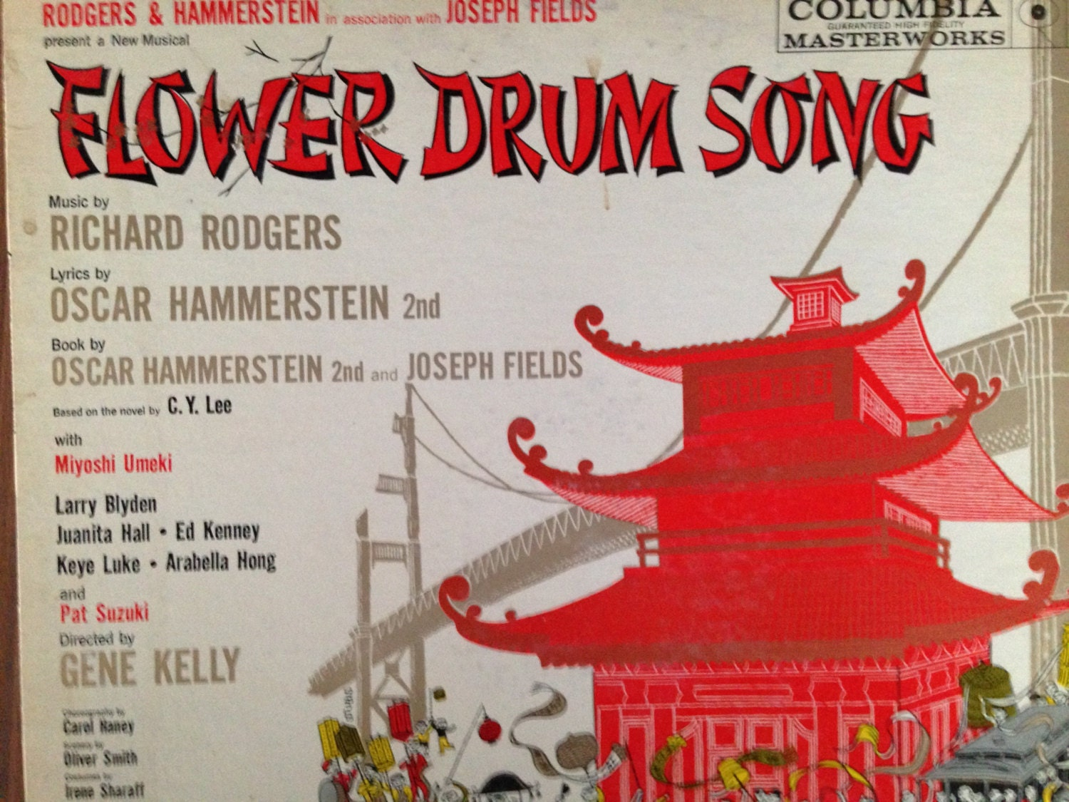 Flower Drum Song Rodgers and Hammerstein vinyl record