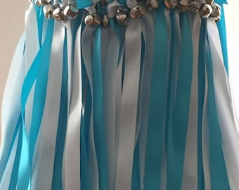 50 Wedding Wands/Wedding Ribbon Wands/Wedding Wand/Wedding Streamers/Turquoise and White