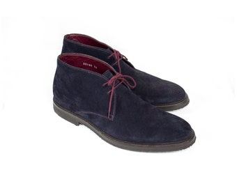 Too Boot New York Blue Suede Leather Chukka Desert Boots / like new / crepe sole / Mens shoes size 12