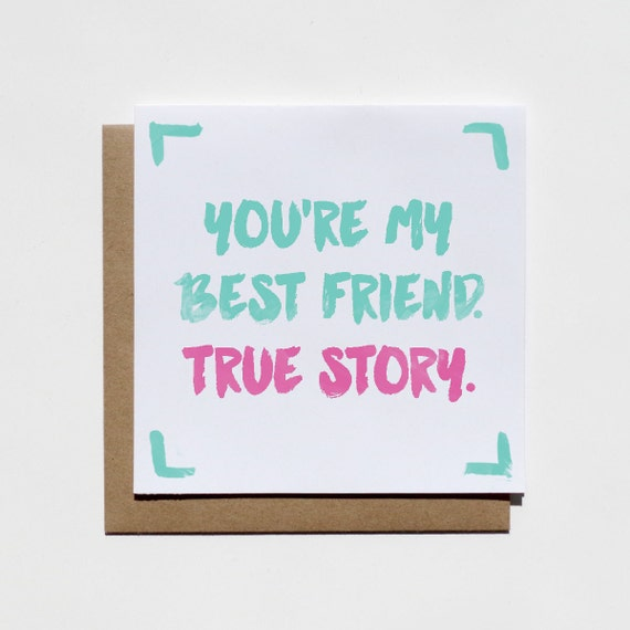 Items similar to Best Friend Card Friendship Card Card for Best – Best Friend Valentines Day Cards