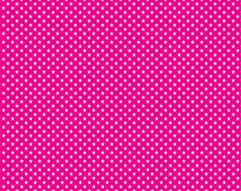 Magenta with white mini stars craft  vinyl sheet - HTV or Adhesive Vinyl -  star pattern HTV2411