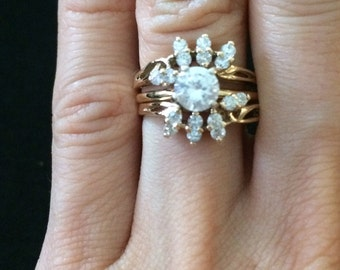Flower White Solitaire