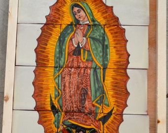 12  pieces Mexican Tile Wall Mural