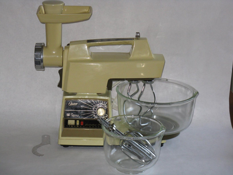 vintage oster regency stand mixer kitchen center meat grinder