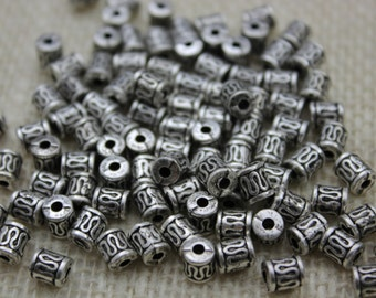 Antique Silver Small Tube Bead (48 Pieces)