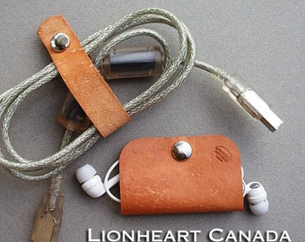 Leather Ear Bud Case/Cord Organizer