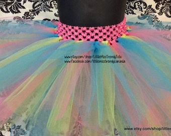 Easter Tutu, Pink, Green, Blue Tutu, Pastel Tutu, Rainbow Tutu, Colorful Tutu Newborn to 6T Tutus, Easter Tutu, Spring Tutu