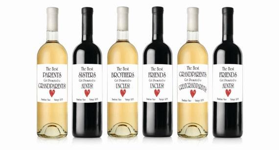Pregnancy Announcement wine labels The Best Parents
