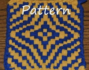 Pattern Instructions for Star of Bethlehem Potholders