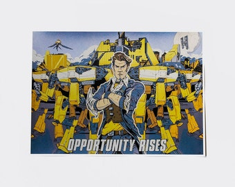 Borderlands 2 Handsome Jack Opportunity Rises Poster