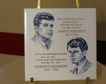 John F. Kennedy, Robert F. Kennedy Quotations Tile