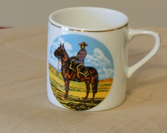 Vintage Royal Canadian Mounted Police Porcelain Tea Cup