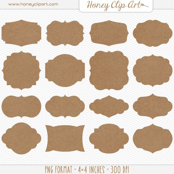Crush image with printable kraft tags