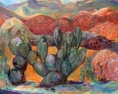 "Landscape Painting entitled ""Prickly Pear"""