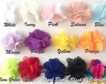 PICK YOUR COLOR / Flower Trim / Chiffon Flower Trim, 100cm