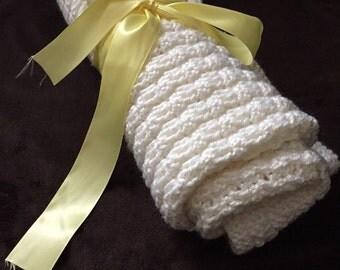 SALE! Custom white crochet blanket