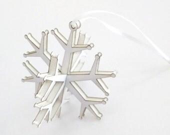 Snowflake Ornament - Christmas holiday decor