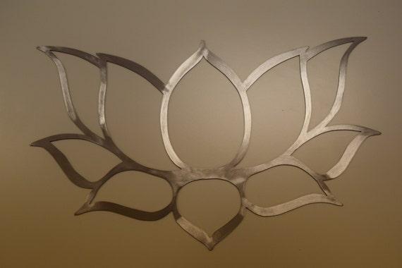 Wall Art Lotus Flower : Lotus flower wall art hand drawn laser cut from metal