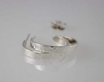 Silver Hoop Earrings, Sterling Silver Hoops, Sterling Silver Open Hoops