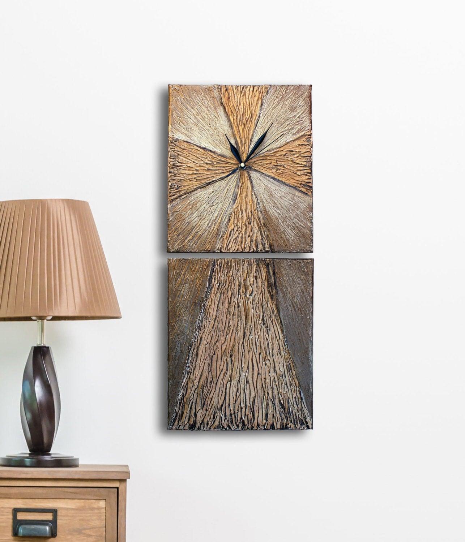 Original Painting Cross Decor Art Wall Clock Cross Clock