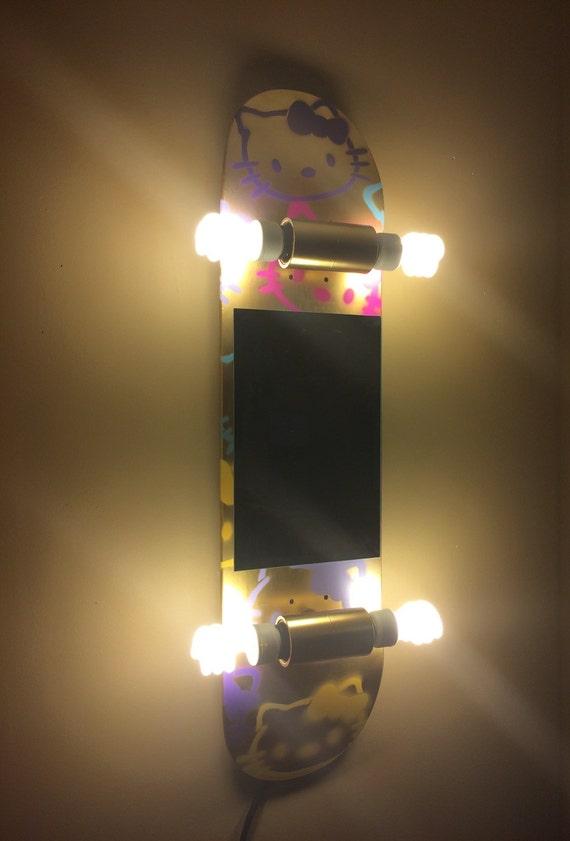 Hello Kitty Skateboard Vanity Light