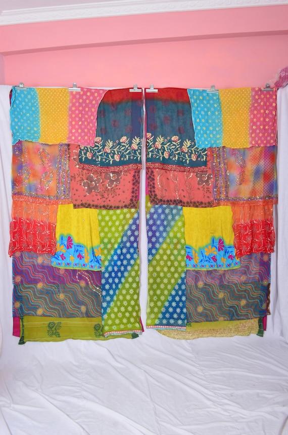 Handmade gypsy draperies boho upcycled textiles by indianhippy