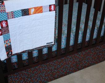 FINAL SALE--Construction Baby Bedding/Builder Baby Crib Skirt