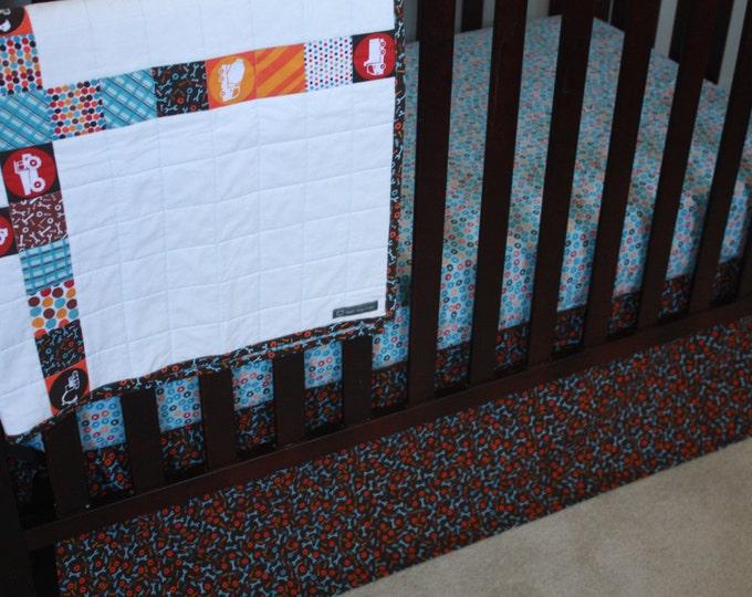 Construction Baby Bedding/Builder Baby Crib Skirt