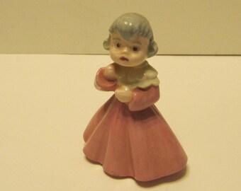 Ceramic pheasant German doll figurine signed 1970