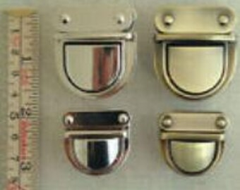 nickel argenté brillant 1 x 31mm tuck Serrure sac fermoir nouveau UK vendeur