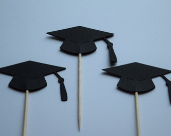 Graduation Decorations, Graduation Party Picks, CHOOSE YOUR COLORS, Graduation Food Picks, Graduation Cupcake Toppers, Graduation Idea