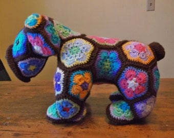 Crochet Stuffed Dog-Ready to Ship