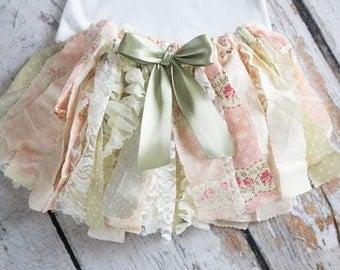 Tea Party Fabric Tutu, Princess Party Skirt, Princess Tutu