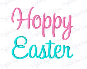 Hoppy Easter Machine Embroidery Design 3x3 4x4 5x7 6x10 INSTANT DOWNLOAD