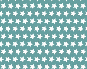 Teal Stars, from Riley Blake Designs