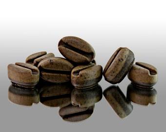 8 Piece Set of Java Junkie Coffee Beans Novelty Soaps-SLS Free