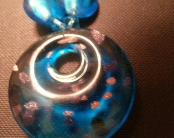 Stunning Blue Pendant Necklace