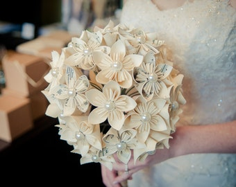 Handmade Sheet Music (First Dance Or Other Song) Paper Flower Bride's Bouquet