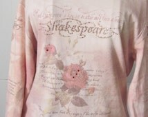 Glitter Roses Shakespeare Shirt Shakespeare Quote And Summer's Lease hath all too Short a Date Shakespeare Sonnet 18