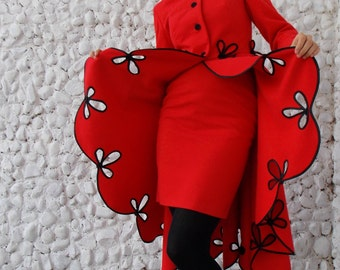 Red Suit / Red Women's Suit / Red Winter Jacket / Red Elegant Coat / Must-have Coat