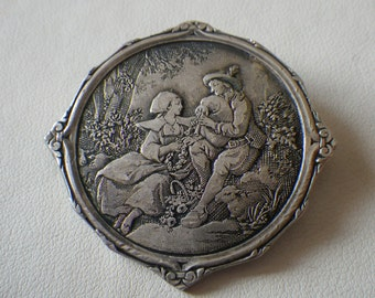 Reduced Sale Beautiful Victorian Silver Brooch Pin