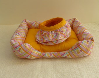 "18"" doll pet bed and pet skirt"