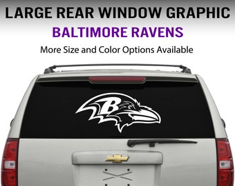 Baltimore Ravens Window Decal Graphic Sticker for Truck Car SUV