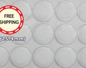 Proudly Made in USA 50 100 200 500 1000 pcs 1inch 3D Round Clear Epoxy Domed Sticker Decal for bottle cap or craft project