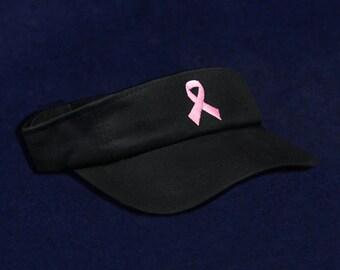 Pink Ribbon Awareness Visor In Black (RE-VI-01-1B)